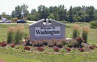 Welcome to Washington, Illinois sign